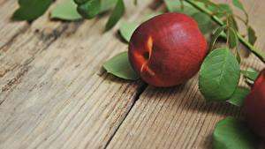 Hintergrundbilder Großansicht Pfirsiche Bretter Ast das Essen