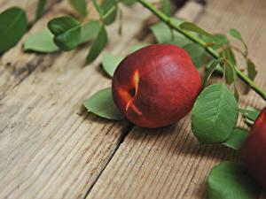 Hintergrundbilder Großansicht Pfirsiche Bretter Ast Lebensmittel