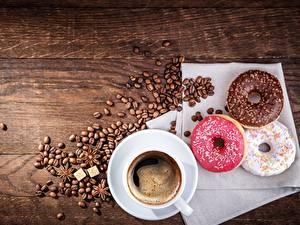Fotos Kaffee Donut Tasse Getreide Lebensmittel