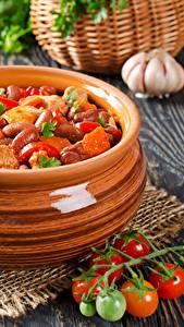 Bilder Die zweite Gerichten Tomate Knoblauch