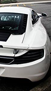 Bilder McLaren Hinten Weiß mp4 road 12c back Autos