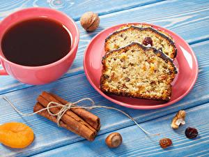 Bilder Kaffee Zimt Schalenobst Keks Bretter Tasse Teller