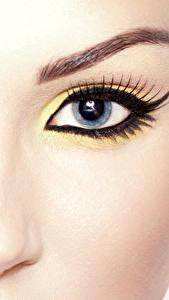 Bilder Nahaufnahme Augen Wimper Makrofotografie Gesicht Make Up Blick Nase Schöne junge frau