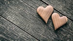 Papel de Parede Desktop Dia dos Namorados De madeira Coração 2