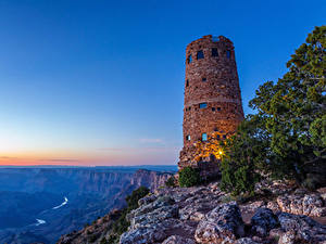 Wallpaper USA Grand Canyon Park Parks Lighthouses Mountains Sunrises and sunsets Nature