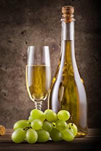 Hintergrundbilder Wein Weintraube Farbigen hintergrund Flasche Weinglas