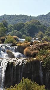 Fotos Kroatien Wasserfall Park Flusse Krka national Park, river Krka Natur