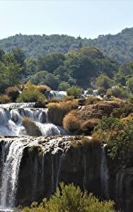 Fotos Kroatien Wasserfall Park Fluss Krka national Park, river Krka Natur