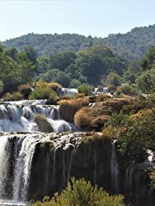 Fotos Kroatien Wasserfall Park Fluss Krka national Park, river Krka