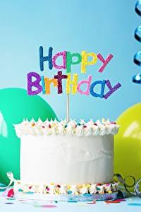 Fotos Feiertage Torte Kerzen Geburtstag Englisch Lebensmittel