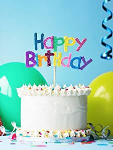 Fotos Feiertage Torte Kerzen Geburtstag Englisch