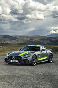 Papel de Parede Desktop Mercedes-Benz Tuning Cinza 2019 AMG GT R PRO Carros