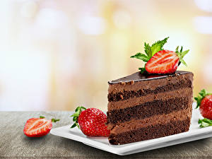Hintergrundbilder Törtchen Erdbeeren Schokolade Lebensmittel