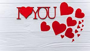 Bilder Valentinstag Herz Bretter Vorlage Grußkarte Englischer Text