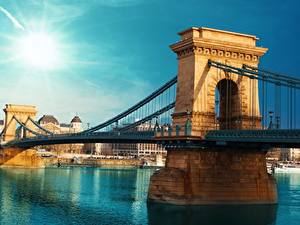 Fotos Brücken Ungarn Budapest Fluss Städte