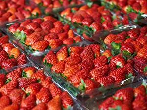 Fotos Erdbeeren Viel das Essen