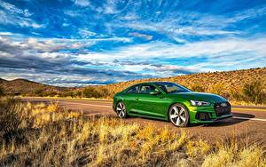 Wallpaper Audi Green Coupe RS 5