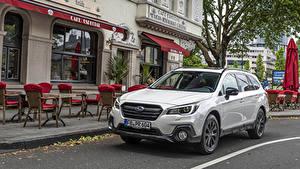 Bilder Subaru Weiß Metallisch Softroader 2019-20 Outback 2.5i Sport X