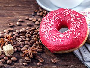 Hintergrundbilder Donut Kaffee Sternanis Getreide Zucker Lebensmittel