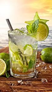 Bilder Getränk Cocktail Limette Küste Mojito Eis Lebensmittel