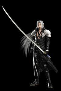 Bilder Krieger Final Fantasy Säbel Schwarzer Hintergrund Sephiroth Spiele 3D-Grafik