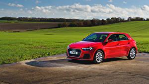 Hintergrundbilder Audi Rot Metallisch 2018 A1 Sportback 30 TFSI Sport Autos