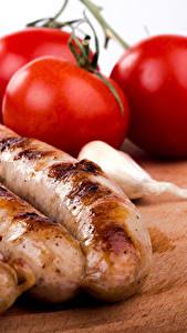 Fotos Fleischwaren Frankfurter Würstel Tomate Lebensmittel