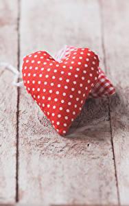 Papéis de parede Dia dos Namorados Tábuas de madeira Coração