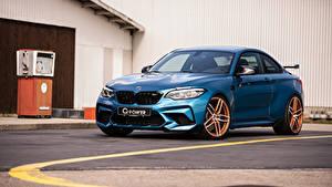 Hintergrundbilder BMW Hellblau 2019 G-Power M2 Competition Autos