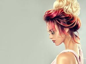 Bilder Haar Farbigen hintergrund Frisuren Sofia Zhuravets Mädchens
