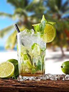 Bilder Limette Getränke Cocktail Mojito Trinkglas Lebensmittel