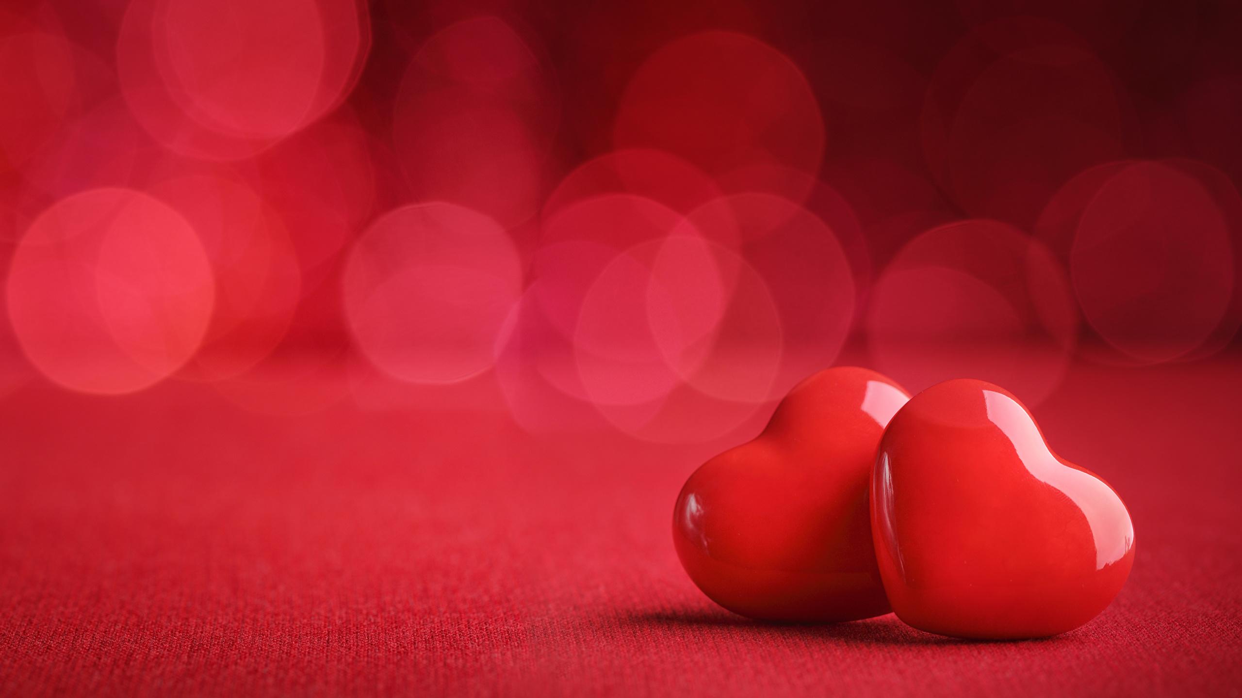 Fonds Decran 2560x1440 Saint Valentin Cœur Deux Rouge