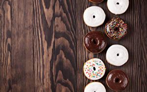 Fotos Backware Donut Schokolade Zuckerguss Bretter