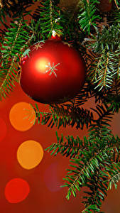 Wallpapers New year Branches Balls