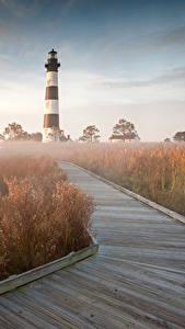 Fotos USA Leuchtturm Gras Bodie Island North Carolina Natur