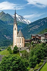 Bilder Berg Kirchengebäude Haus Österreich Alpen Heiligenblut Natur