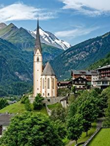 Bilder Berg Kirchengebäude Haus Österreich Alpen Heiligenblut
