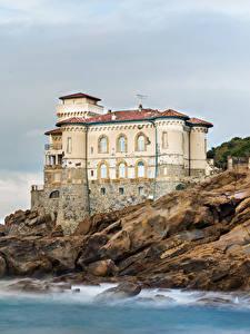Hintergrundbilder Italien Burg Küste Boccale Castle Städte