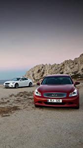 Hintergrundbilder Infiniti Metallisch Autos