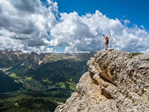 Fotos Gebirge Landschaftsfotografie Felsen Wolke