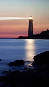 Hintergrundbilder USA Leuchtturm Küste Abend Kalifornien Port Hueneme Natur