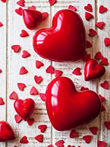 Papel de Parede Desktop Dia dos Namorados Muitas Tábuas de madeira Coração