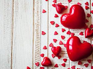Papéis de parede Dia dos Namorados Muitas Tábuas de madeira Coração