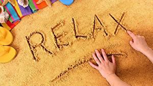 Hintergrundbilder Sand Erholung Wort Englisch Hand