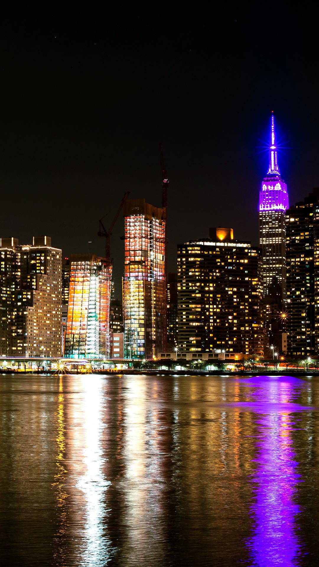 Desktop Wallpapers New York City Usa Bay Night Cities 1080x1920