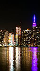 Hintergrundbilder Vereinigte Staaten Haus New York City Nacht Bucht Städte