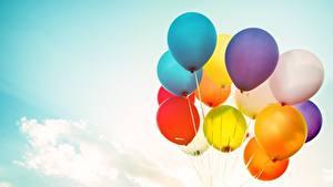 Hintergrundbilder Himmel Luftballons