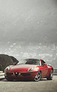 Hintergrundbilder Alfa Romeo Rot Metallisch Treppe 2013 Disco Volante Touring automobil