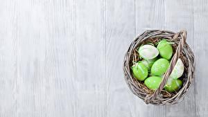 Bilder Ostern Bretter Ei Weidenkorb