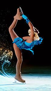 Hintergrundbilder Schlittschuh Bein Tanzen Uniform junge frau Sport